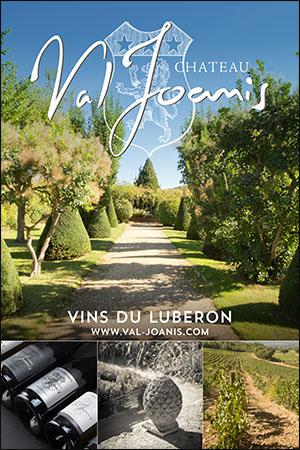 Chateau Val Joanis Vins du Luberon et vins de Provence avec le Syndicat d'Initiative de Marseille